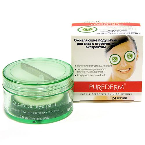 Подушечки для глаз Purederm. С огуречным экстрактом, 24 шт