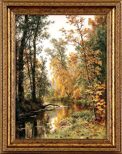 Осенний пейзаж. Парк в Павловске. 1888 (Шишкин И.И.)
