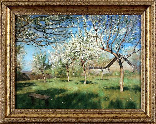 Цветущие яблони (Левитан И.И.)