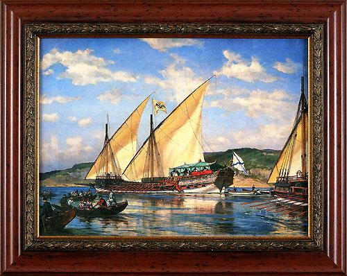 """Галера """"Тверь"""". 1879 (А.К. Беггров), 30 x 40 см"""