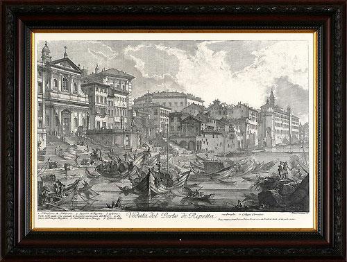 Порт Рипетта (Джованни Баттиста Пиранези), 30 x 40 см