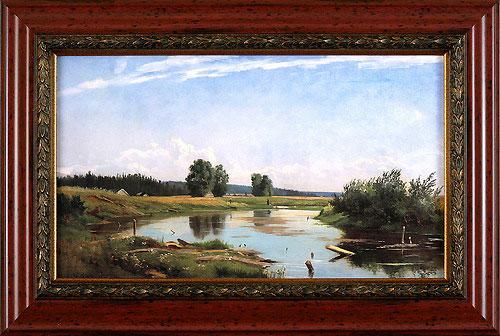 Пейзаж с озером. 1886 (И.И. Шишкин), 24 x 40 см