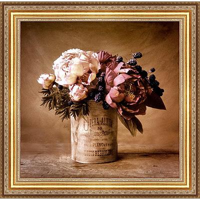 Застывшие пионы (Cristin Atria), 30 x 30 см