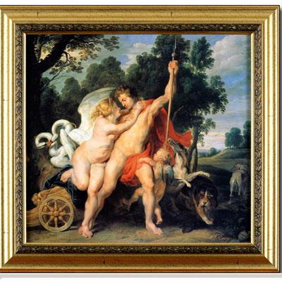 Венера и Адонис. Около 1614 (Питер Пауль Рубенс), 40 x 40 см