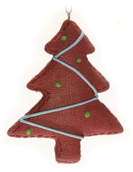 """Новогоднее подвесное украшение """"Елка"""", цвет: коричневый. 15470"""