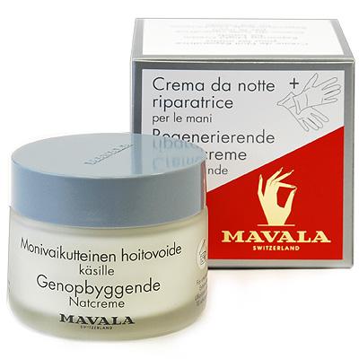 """Восстанавливающий ночной крем """"Mavala"""" для рук, c перчатками, 75 мл ( 07-146 )"""
