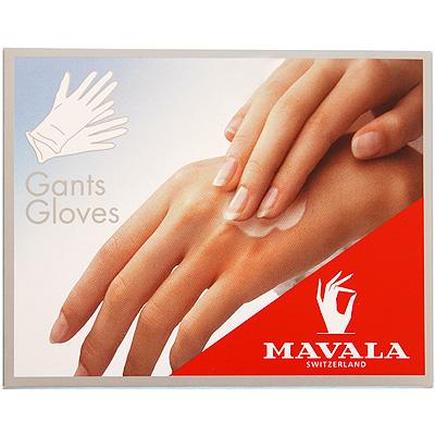 Перчатки Mavala, хлопчатобумажные, 1 пара39957Перчатки предназначены для усиления лечебного воздействия крема на кожу рук. Их нужно надевать на ночь после нанесения крема, таким образом, вещества проникают в кожу медленно и делают свою работу ночью, пока вы спите. Это помогает крему эффективно проникать в глубокие слои поврежденной кожи рук. Характеристики: Материал: хлопок. Длина перчатки: 21,5 см. Производитель: Швейцария. Товар сертифицирован.