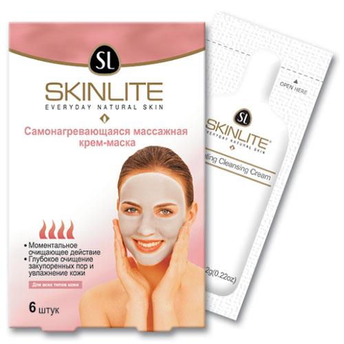 Самонагревающаяся массажная крем-маска Skinlite, 6 шт