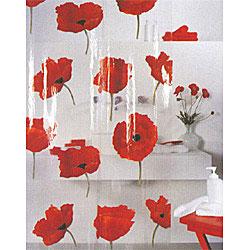 """Штора для ванной комнаты """"Poppy cinnabar"""", 180 х 200 см"""