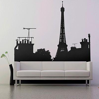 "Стикер Paristic ""На крышах Парижа"", вид C, 103 х 150 см"