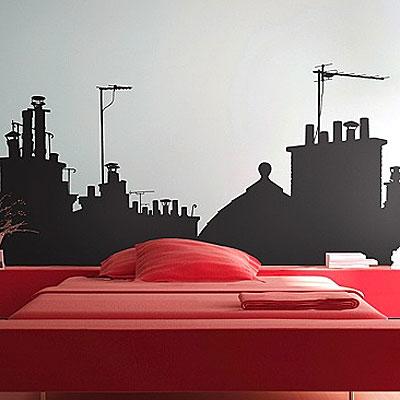 "Стикер Paristic ""На крышах Парижа"", вид A, 100 х 145 см"