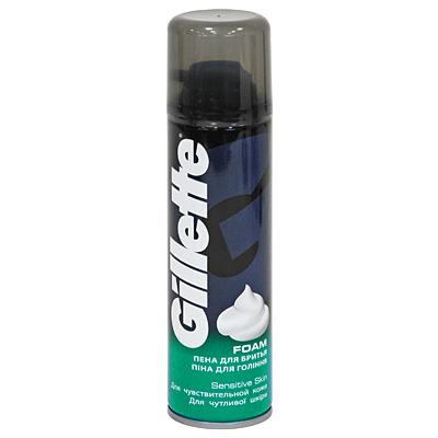 Пена для бритья Gillette, для чувствительной кожи, 200 мл