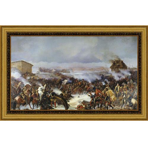 Сражение под Нарвой (А.Е. Коцебу), со светлой рамкой, 25 x 40 см