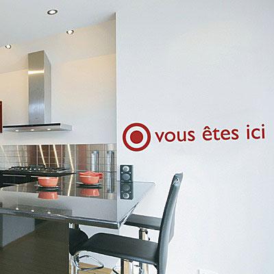 """Стикер Paristic """"Vous etes ici"""", 11 х 16 см"""