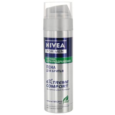 NIVEA Пена для бритья Экстремальный комфорт 200 мл (Nivea)