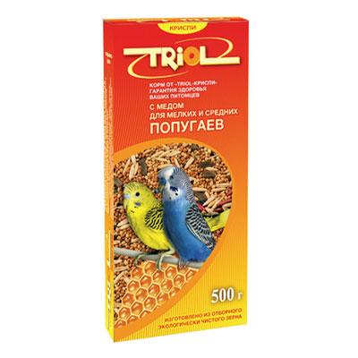"""Корм """"Triol"""" для мелких и средних попугаев, с медом, 500 г ( Кф-00100 )"""