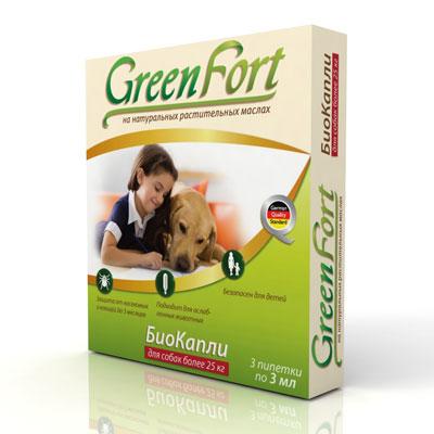 """БиоКапли """"Green Fort"""" от блох и клещей, для собак более 25 кг"""