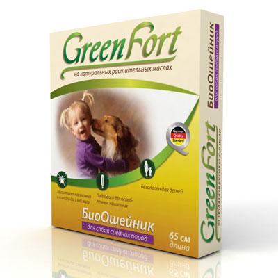 """БиоОшейник """"Green Fort"""" от блох и клещей, для средних пород, длина 65 см"""
