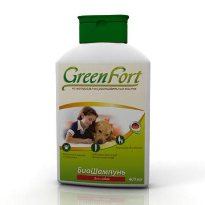 """Биошампунь от блох и клещей для собак """"Green Fort"""", 400мл"""