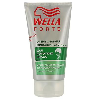 Гель для укладки коротких волос Wella Forte, очень сильная фиксация, 150 мл