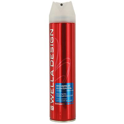 Лак для волос Wella Design Мощный контроль, супер-сильная фиксация, 250 мл