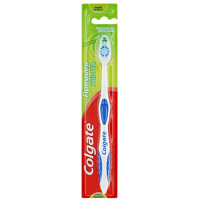 Colgate Зубная щетка Премьер Отбеливания, средней жесткости