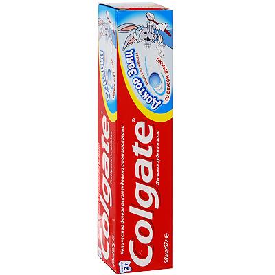 Зубная паста детская Colgate Доктор заяц, со вкусом жвачки, 50 мл (Colgate-Palmolive)