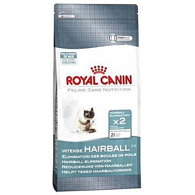 """Корм сухой Royal Canin """"Intense Hairball"""" для кошек, выведение волосяных комочков"""
