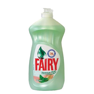 """Средство для мытья посуды Fairy """"Нежные руки"""" с чайным деревом и мятой, 500 мл ( FR-80246874 )"""