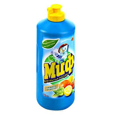 """Средство для мытья посуды """"Миф"""", с ароматом цитрусовых, 500 мл ( MD-81557053 )"""