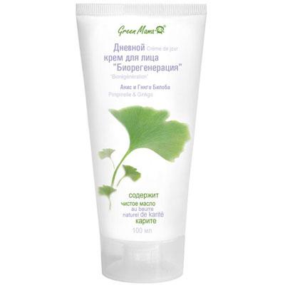 Дневной крем для лица Green Mama Биорегенерация, для зрелой чувствительной кожи, 100 мл