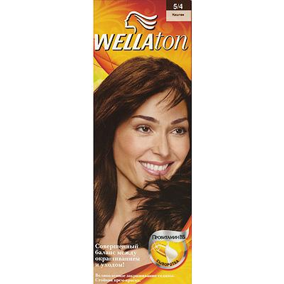 Крем-краска для волос Wellaton 5/4. Каштан