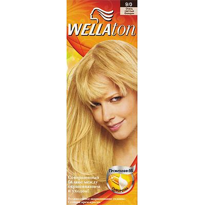 Крем-краска для волос Wellaton 9/0. Очень светлый блондин