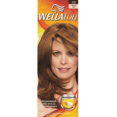 Крем-краска для волос Wellaton 7/3. Лесной орех