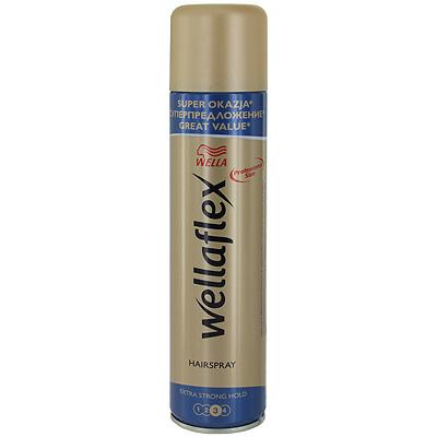 Wellaflex Лак для волос, экстрасильная фиксация, 400 мл