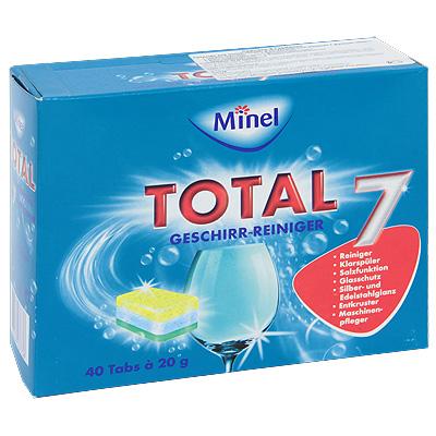 """Чистящее средство для посудомоечной машины Minel """"Total"""", в таблетках, 800 г ( 803773 )"""