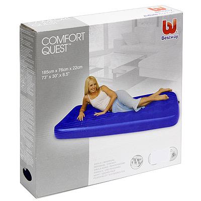 """Кровать надувная Bestway """"Comfort Quest"""", цвет: синий, 185 см х 76 см х 22 см"""