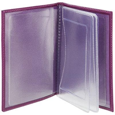 """Бумажник водителя Befler """"Изящная кошка"""", цвет: фиолетовый ( BV.35.-1.violet )"""