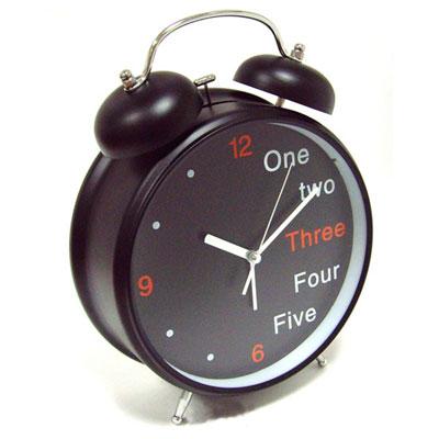 """Часы-будильник """"Эврика"""", цвет: черный"""