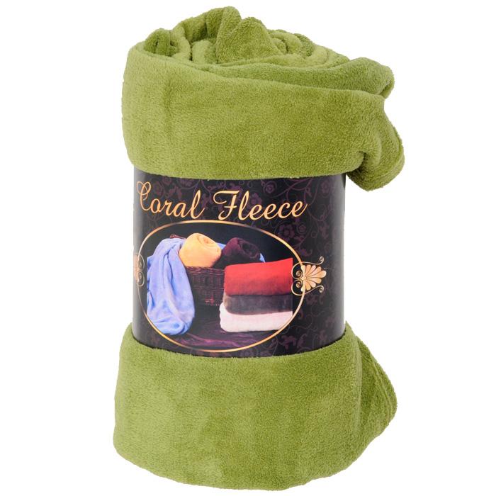 """Плед флисовый """"Coral Fleece"""", цвет: фисташковый, 220 х 200 см"""