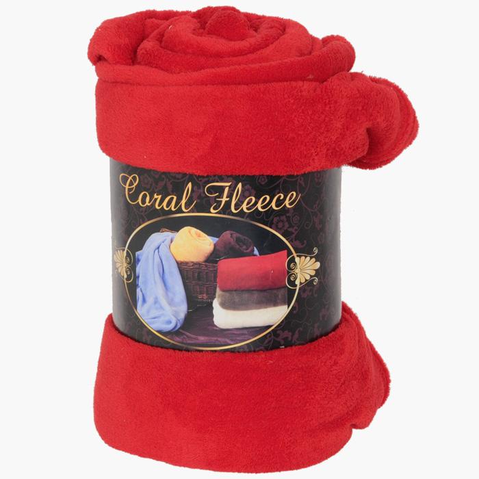 """Плед флисовый """"Coral Fleece"""", цвет: красный, 220 х 200 см"""