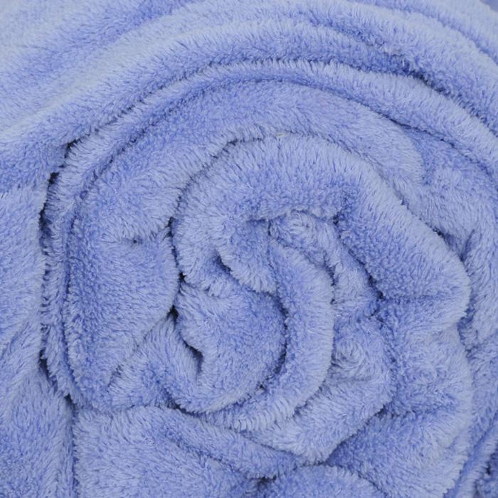 """Плед флисовый """"Coral Fleece"""", цвет: фиолетовый, 220 х 200 см(небесный)"""