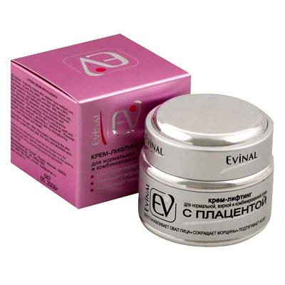 """Крем-лифтинг """"Evinal"""" с экстрактом плаценты, для нормальной, жирной и комбинированной кожи лица, 50 мл ( 0356 )"""