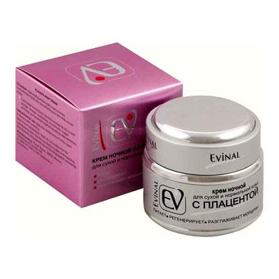"""Крем """"Evinal"""" с экстрактом плаценты, ночной, для сухой и нормальной кожи, 50 мл ( 0981 )"""