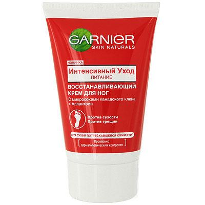 Garnier Крем для ног Интенсивный уход, Питание, восстанавливающий, для сухой потрескавшейся кожи стоп, 100 мл