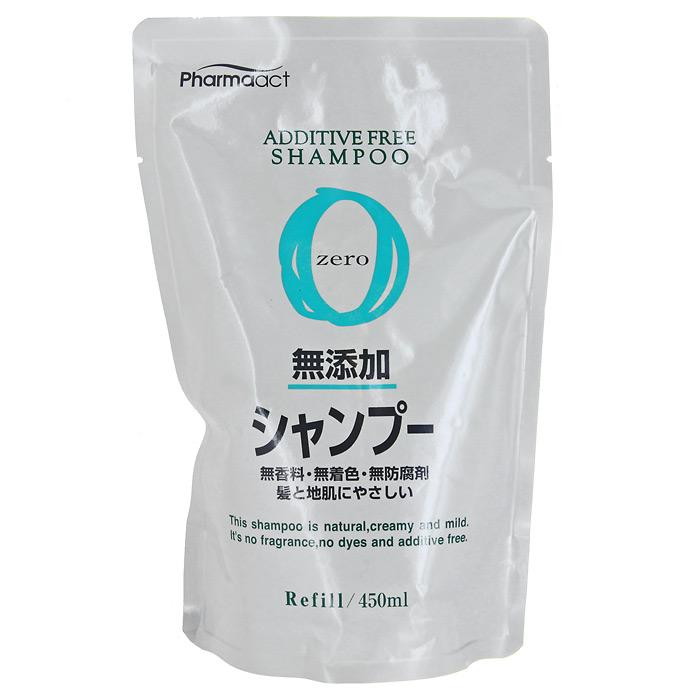 Шампунь для волос Pharmaact на растительной основе, для чувствительной кожи головы, сменная упаковка, 450 мл