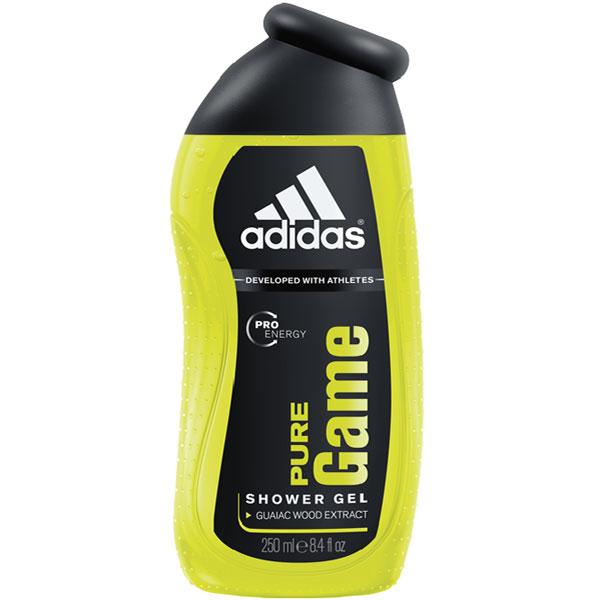 Adidas Pure Game. Гель для душа, 250 мл340009253230Гель для душа от Adidas с аромат Pure Game. Аромат Adidas Pure Game для настоящих мужчин: выносливых, сильных, активных. Они всегда стремятся к победе, и успех часто присутствует в их жизни. Для них не существует непреодолимых преград для достижения своих целей. Классификация аромата: древесный, фруктовый. Пирамида аромата: Верхние ноты: мандарин, грейпфрут, базилик, перец. Ноты сердца: лаванда, кипарис, гваяковое дерево. Ноты шлейфа: пачули, бобы тонка, ладан. Ключевые слова: Свежий, бодрящий, энергичный! Характеристики: Объем: 250 мл. Производитель: Испания. Товар сертифицирован. УВАЖАЕМЫЕ КЛИЕНТЫ! Обращаем ваше внимание на возможные изменения в дизайне упаковки. Поставка осуществляется в зависимости от наличия на складе. Качественные характеристики товара остаются неизменными.