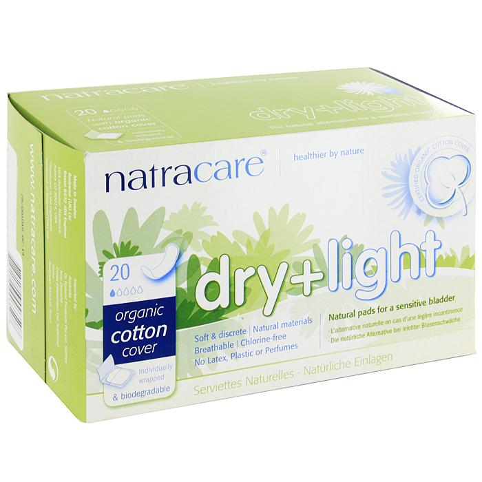 Гигиенические прокладки при недержании Natracare Dry + Light, 20 шт