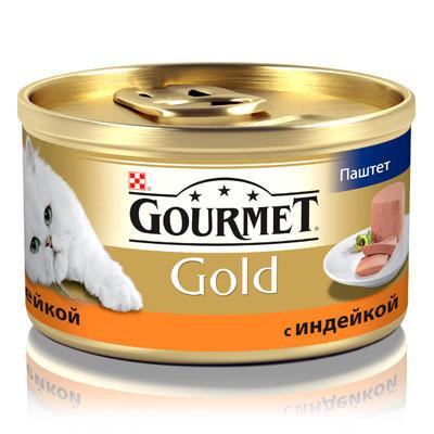 """Консервы для кошек Gourmet """"Gold"""", паштет с индейкой, 85 г ( 12032392 )"""