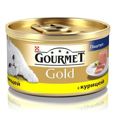 """Консервы для кошек Gourmet """"Gold"""", паштет с курицей, 85 г ( 12032582 )"""